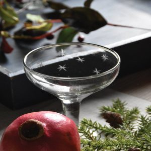 Etched Star Champagne Coupe