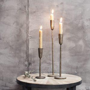 mbata antique brass candlestick small