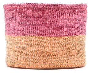 keti sand and dusty pink block basket