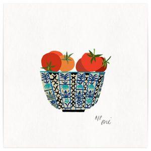 Halle tomato bowl Giclee print