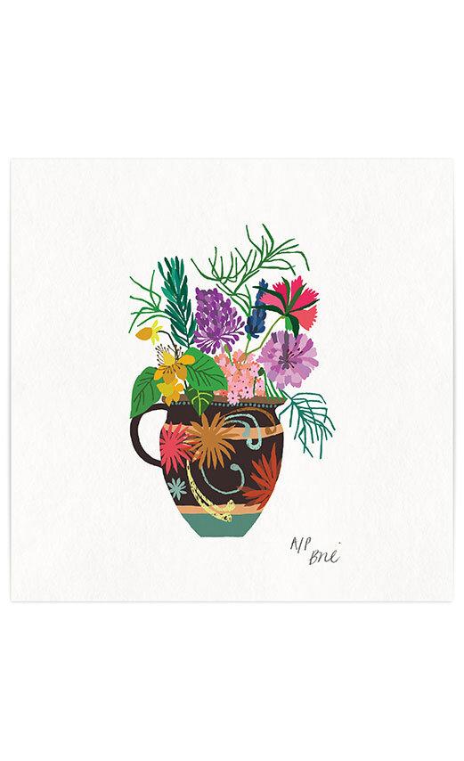 Gardener's vase giclee print