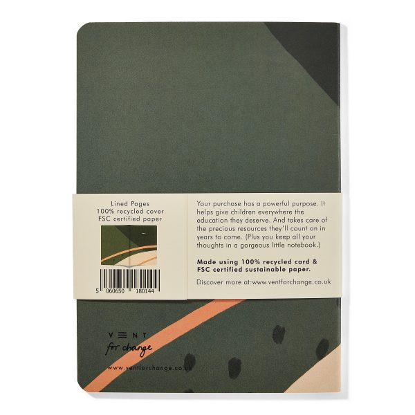 Vent For Change Recycled and Sustainable A5 Notebook – Ideas Green