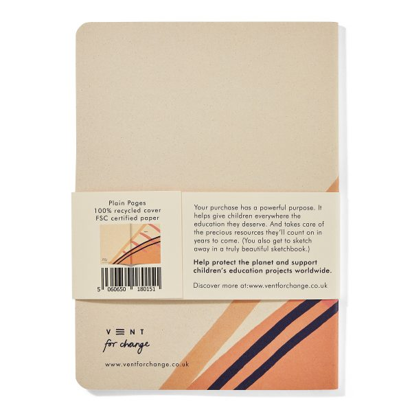 Recycled and Sustainable A5 Sketchbook – Ideas Pink Vent For Change