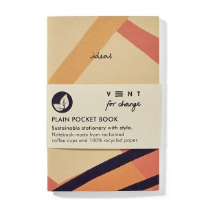 Recycled Plain Paper Mini Pocket Notebook – Ideas Pink