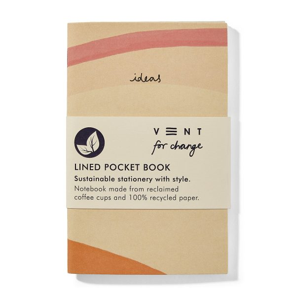 Recycled Lined Paper Mini Pocket Notebook – Ideas Cream