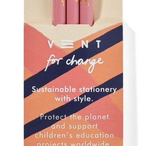 Vent for Change Recycled Orchid Pink Pencils in Pink Ideas Sleeve