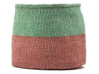 cheo coral and green colour block basket
