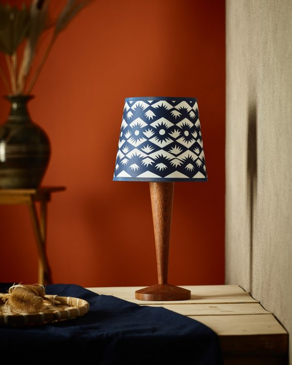 """Claire_Cartwright_Tuft_8""""_Cyanotype_Lampshade"""