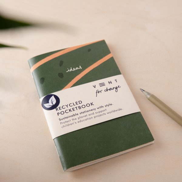 Recycled Lined Paper Mini Pocket Notebook – Ideas Green