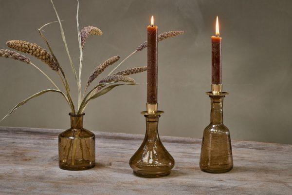 Nkuku_Sirsa_Glass_Candlestick_Sepia_Tapered_group
