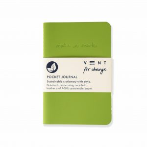 Recycled Leather notebook in green