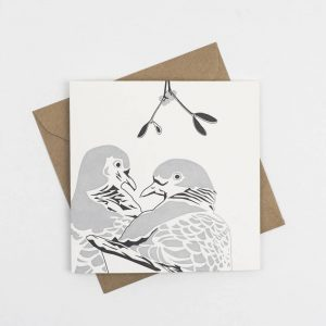 Penguin_Ink_Two_Turtle_Doves_card_front