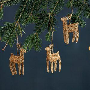 Ramya Wire Reindeer Decoration