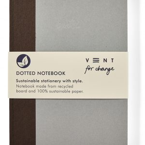 Recycled Board A5 Write Dots Notebook – Brown fabric spine