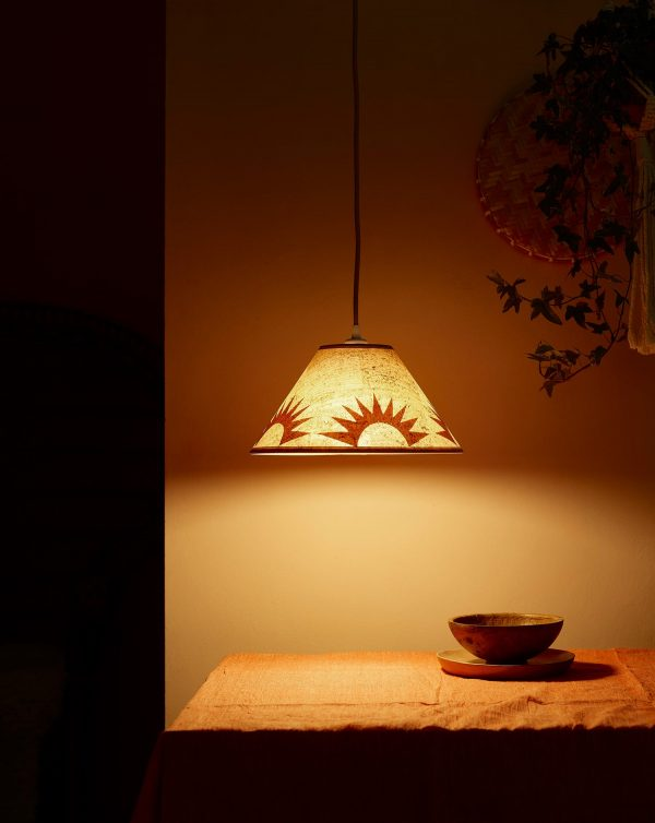 """Claire_Cartwright_Sunset_12""""_Cork_Lampshade"""