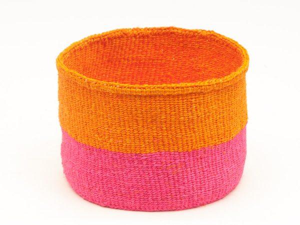 Kali pink and orange block basket